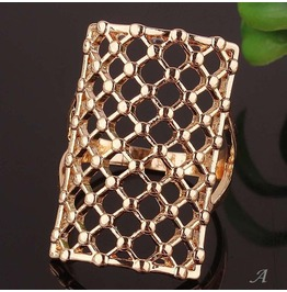 "Open Face Square Gold Filled Unisex Ring Size. 11 "" Last One """