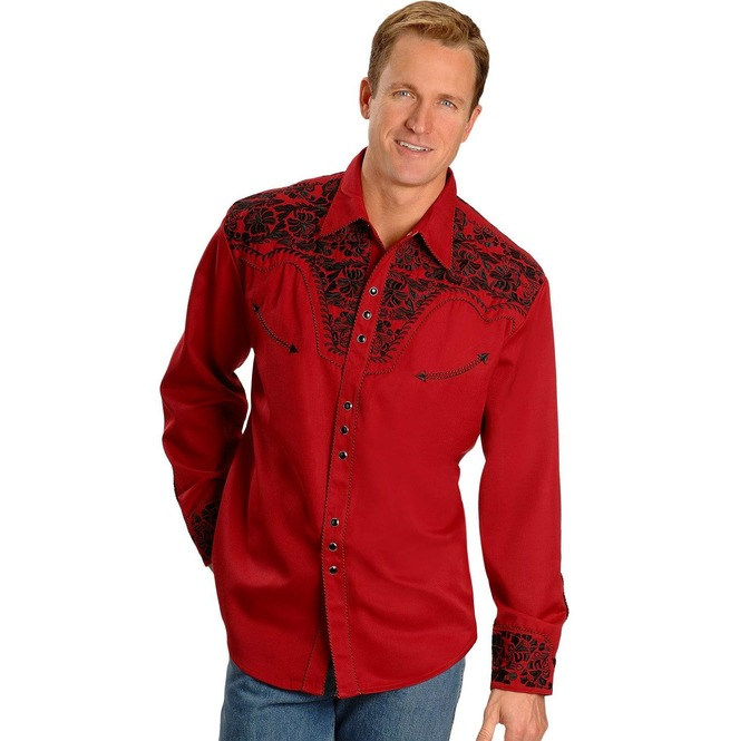 rebelsmarket_scully_western_black_floral_embroidery_red_cowboy_pearl_snap_shirt_shirts_3.jpg