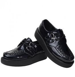 Tuk Metallic Burgundy Or Black Shiny Unisex Creeper Shoes $5 Us Shipping
