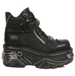 New Rock Shoes Lace Up Turbo Ankle Boots With Velcro Strap