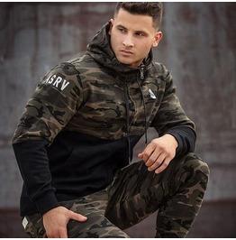 Hoodie Military Mens Hood Rock Punk Sweatshirts Hip Hop Hoodies Men