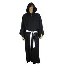 Black Hooded Monk Horror Robe Deluxe Costume 1401