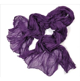 """Fashion Solid Purple Soft Crinkle Long Scarf Wrap Shawl 60"""" X 31"""""""