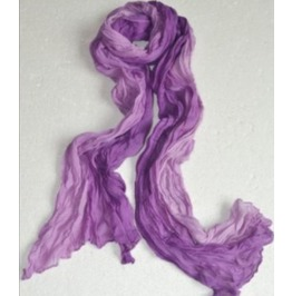 Color Stitching Soft Wrinkle Cotton Purple Blend Scarf Wrap Shawl
