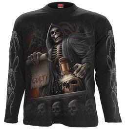 New Black Longsleeve Reaper Skulls Skeleton Undead T Shirt