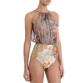 Vintage Inspired Floral Print Swimwear