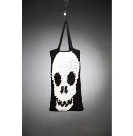 Handmade Knit Skull Tote Bag