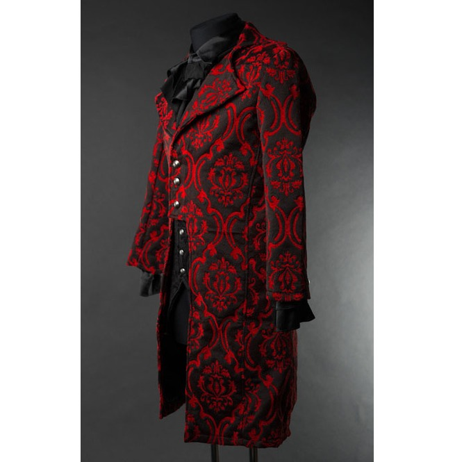 rebelsmarket_mens_red_black_brocade_victorian_gentleman_tailcoat_9_to_ship_worldwide_jackets_2.jpg
