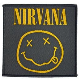 "Nirvana Smiley Patch 10 Cm X 10cm (4"" X 4"")"