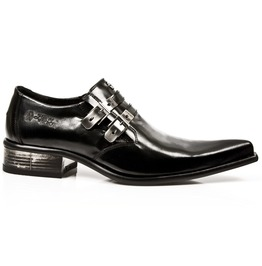 New Rock Shoes Mens Black Newman Formal Leather Shoes