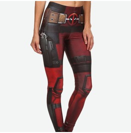 Dead Pool Print Fashion Women Leggings Pants