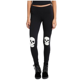 Skull Knee Patch Leggings