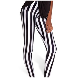 Black White Stripe Leggings