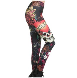 Love Kills Skull Tattoo Leggings