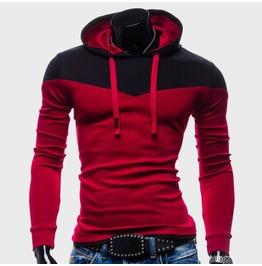 Men's Hoodies Hoody Sweatshirt Red / Blue / Gray / Black Colors Men New