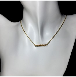 Chain Bar Necklace | Gold | Excellent Quality Chain Made In Japan
