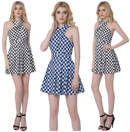 Women Summer Beach Sleeveless Bodycon Casual Party Evening Mini Dress