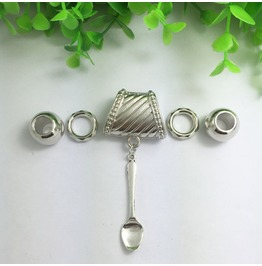 Silver Scarf Ring Pendant ~ Spoon