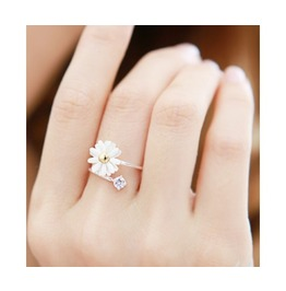 Fashion Cute Adjustable Daisy Flower Ring