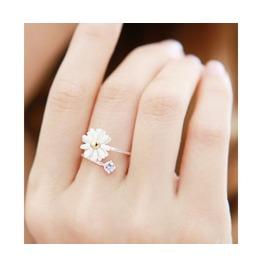 Fashion Cute Adjustable Daisy Flower Ring