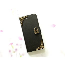 Lock Leather Phone Case For I Phone Se 5s 6 6s 7 Plus Samsung S7 Edge Mn2