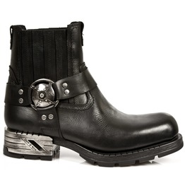 New Rock Shoes Men's Black Motorock Leather Boots