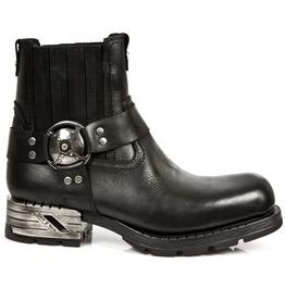 New Rock Shoes Men's Black Motorock Leather Boots
