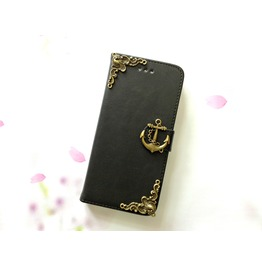Anchor Leather Phone Case For I Phone Se 5s 6 6s 7 Plus Samsung S7 Edge Mn5