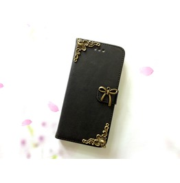 Bowknot Leather Phone Case For I Phone Se 5s 6 6s 7 Plus Samsung S7 Edge Mn6