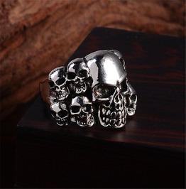 Men's 316 L Stainless Steel Punk Skull Design Ring