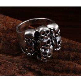 Men's 316 L Stainless Steel Skull Punk Design Ring