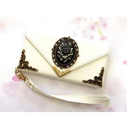Flower Envelope Leather Case For I Phone Se 6s 7 Plus Samsung S7 Edge Mn12