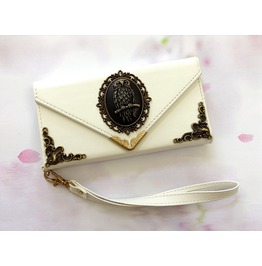Owl Envelope Leather Case For I Phone Se 6s 7 Plus Samsung S7 Edge Mn13