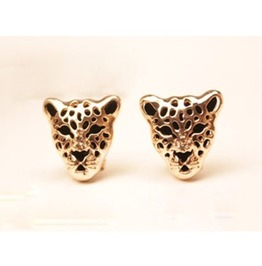 Punk Leopard Head Earrings