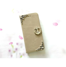 Anchor Leather Phone Case For I Phone Se 5s 6 6s 7 Plus Samsung S7 Edge Mn48