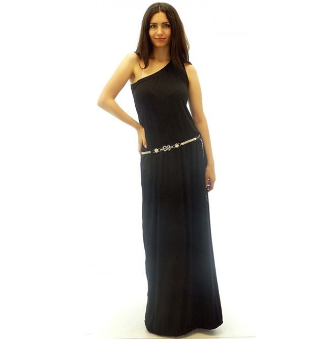 Long Black Dress, Bare Shoulder Dress, One Shoulder Dress, Plus Size Dress