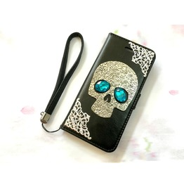 Skull Leather Phone Case For I Phone 6 6s 7 Plus Samsung Note 4 5 Mn6