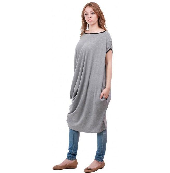 Gray Loose Dress, Plus Size Dress, Oversize Dress, Maxi Dress, Baggy Dress