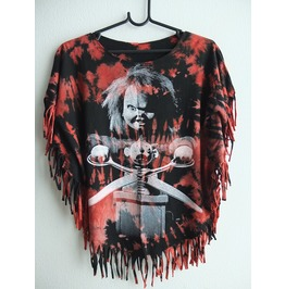 Chucky Doll Fashion T Shirt Poncho Fringes