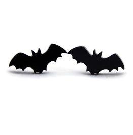 Black Bat Earrings, Women's Nickel Free Post Earrings