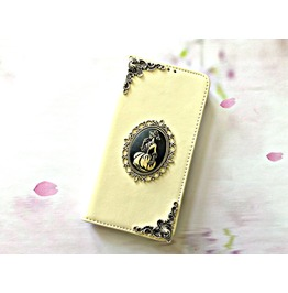Skull Lady Leather Phone Wallet Case For I Phone Se 5s 5c 6 6s Plus Mn114