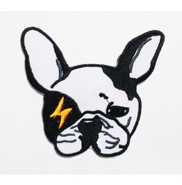 Flash French Bulldog Sew On Or Iron On Patch. High Quality.