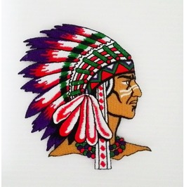"Embroidered Badge ""Indian"" Sew On Or Iron On Patch."