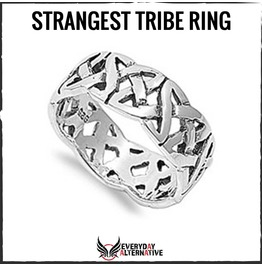 Strangest Tribe Ring 925 Sterling Silver Celtic Woven Trinity Knot Band