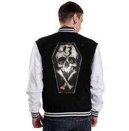 Lucky Thirteen Skull And Bones Varsity Rockabilly Jacket