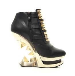 Hades Shoes Gleam Ankle Boot With Golden Iceberg Wedge