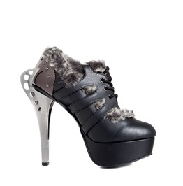 Hades Shoes Monarch Steampunk Flame Buckles Shoes