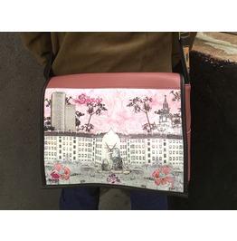 Student, Silensio Print, Benga Rabbit Mauve Vegan Leather Messenger Bag