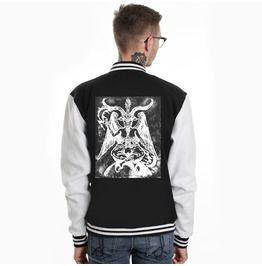 Baphomet Occult Varsity Jacket