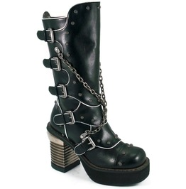 Hades Shoes Motorhead With Metal Chains And Screw Topped Rivets Boots